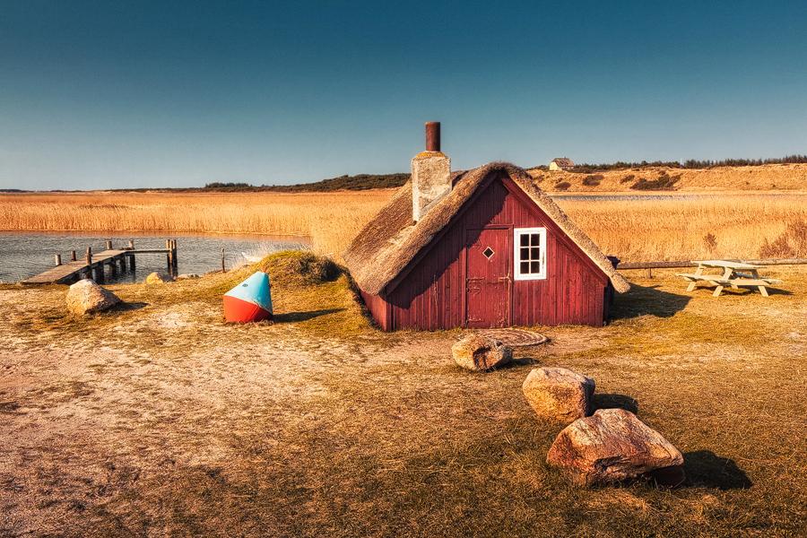 Fischerhaus mit Boje (Nymindegab)