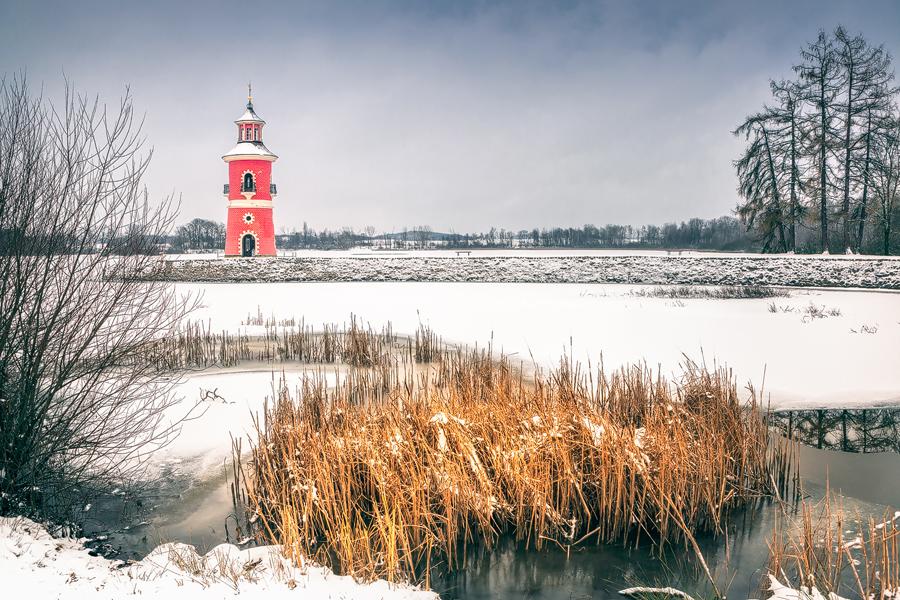 Leuchtturm am Niederen Großteich (Moritzburg)