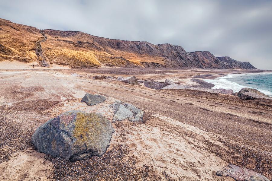 Die Steilküste bei Bovbjerg (Dänemark)