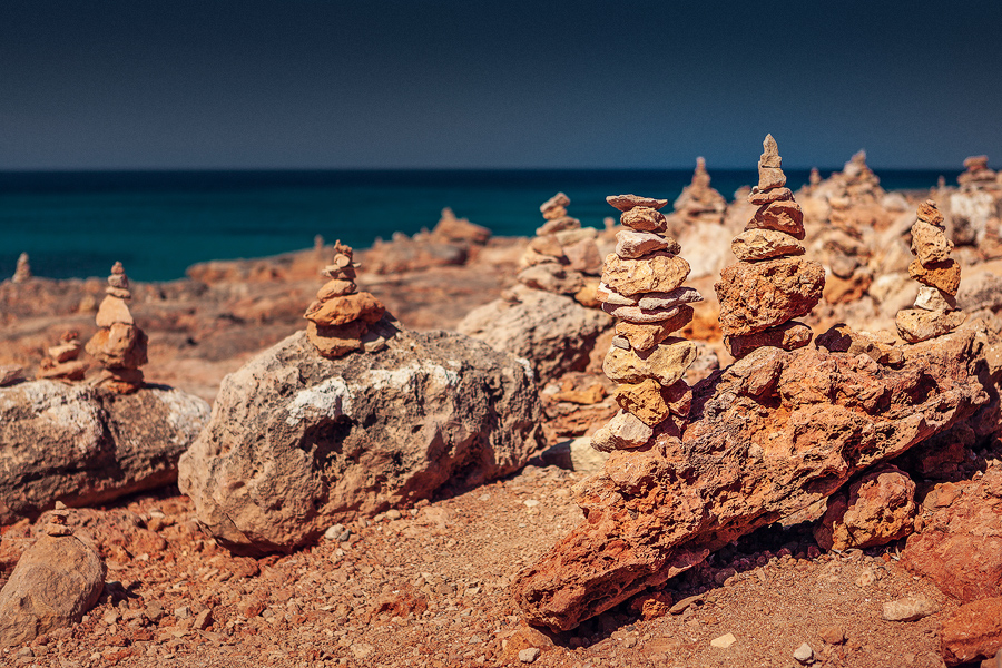 Steintürmchen am Cap de Ses Salines (Mallorca)