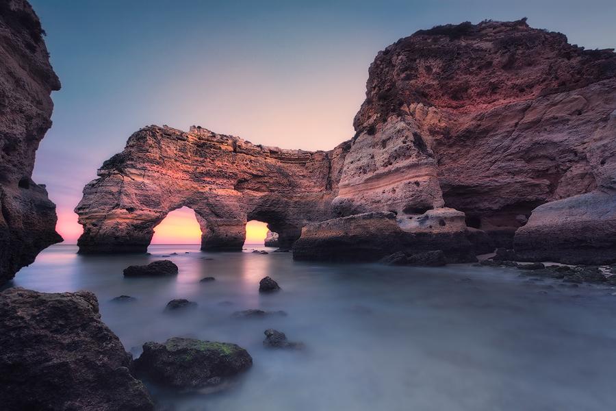 Blaue Stunde in Sekunden (Praia da Marinha)