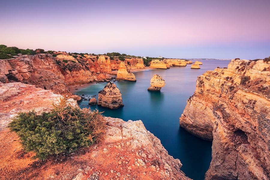 Wenn die Felsen glühen (Praia da Marinha / Algarve)