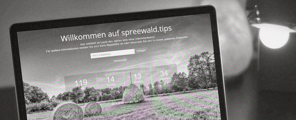 Website-Tapete auf Spreewald.tips Portal