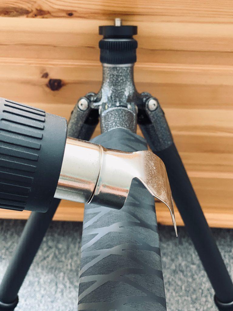 DIY-Schutz für Stativbeine aus Carbon - Reflektordüse als Aufsatz
