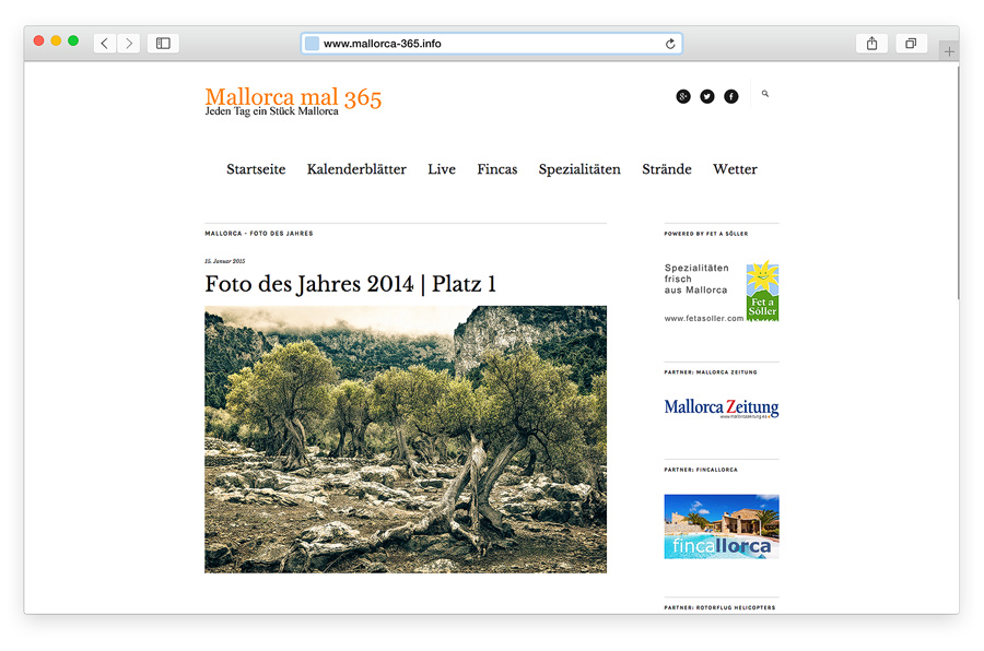 Mallorca - Foto des Jahres 2014